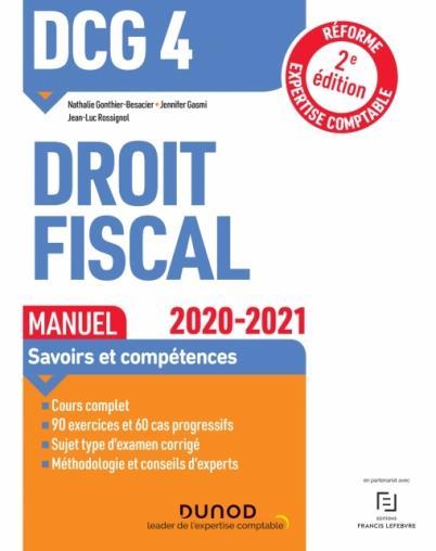 DCG 4 ; droit fiscal ; manuel (édition 2020/2021)