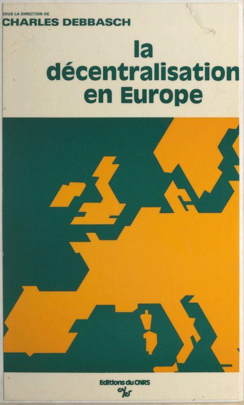 Decentralisation en europe