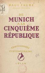 De Munich à la Cinquième République