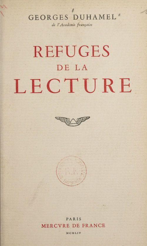 Refuges de la lecture