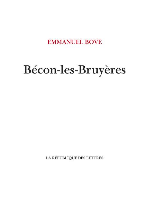 Bécon-les-Bruyères