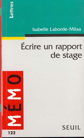 Ecrire un rapport de stage
