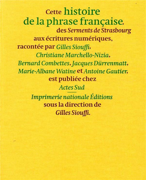 Histoire de la phrase française : des Serments de Strasbourg aux écritures numériques