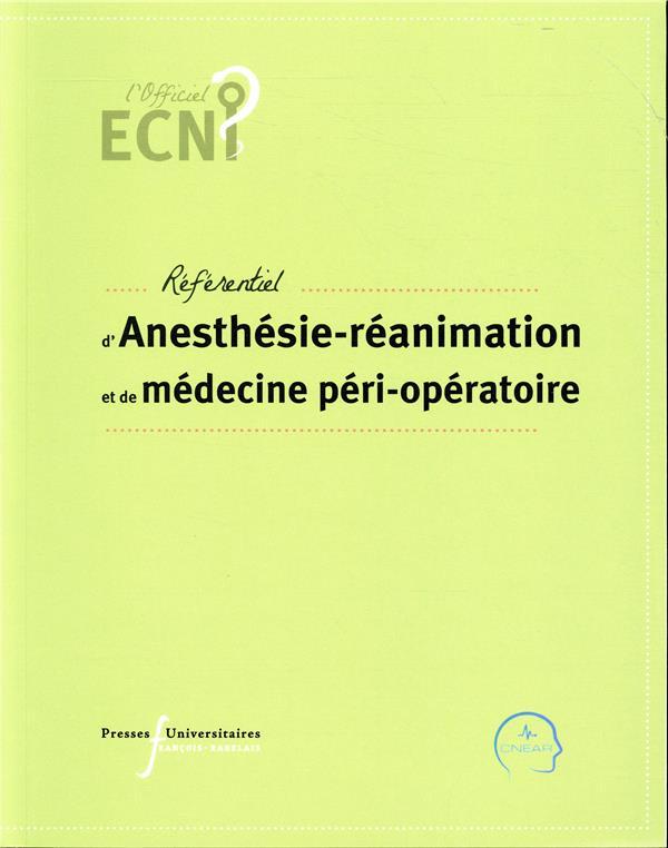 Référentiel d'anesthésie-réanimation et de médecine péri-opératoire