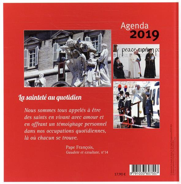 Agenda pape François ; la sainteté au quotidien (édition 2019)
