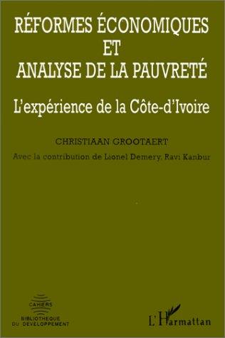 reformes economiques et analyse de la pauvrete - l'experience de la cote-d'ivoire
