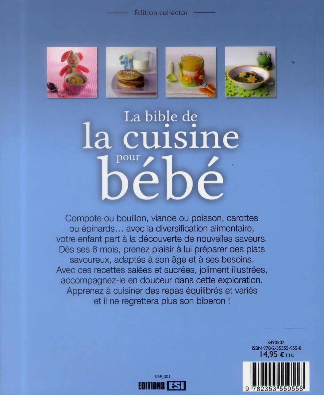 La bible de la cuisine pour bébé
