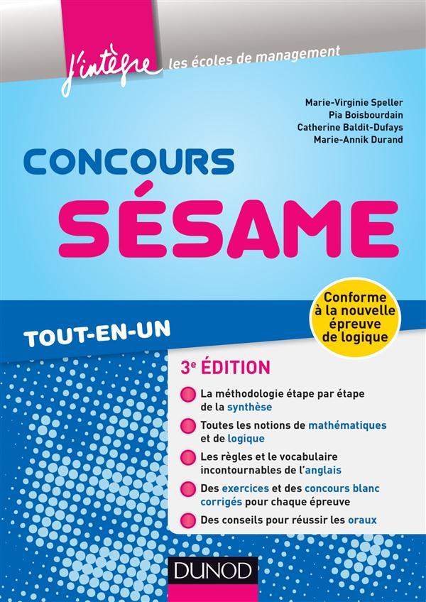 Concours Sesame (3e Edition) ; Tout-En-Un