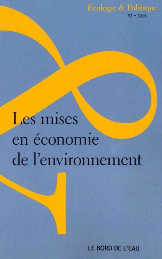 Les mises en economie de l'environnement