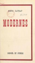 Modernes  - Denis Saurat