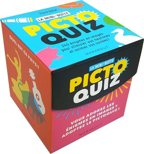 La mini-boîte ; picto quizz ; 240 énigmes en images pour stimuler vos neurones et animer vos soirées !