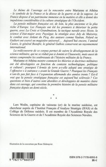 Marianne et Athéna ; la pensée militaire francaise du XVIIIe siècle à nos jours
