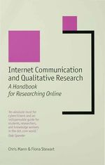 Vente Livre Numérique : Internet Communication and Qualitative Research  - Chris Mann - Fiona Stewart