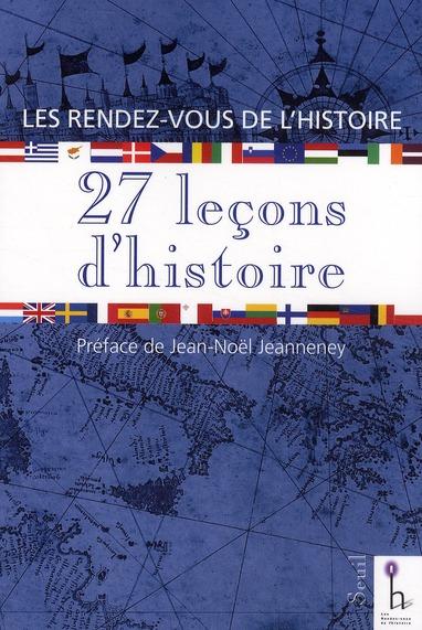 27 leçons d'histoire