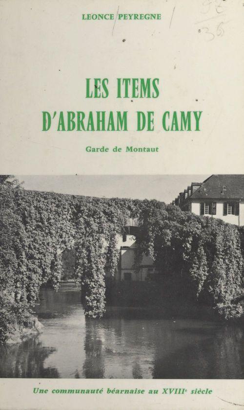 Les items d'Abraham de Camy, garde de Montaut