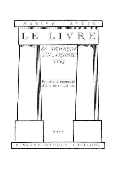 Le livre ; sa technique, son architecture