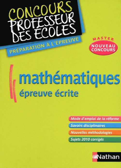 Mathématiques ; épreuve écrite (édition 2012)