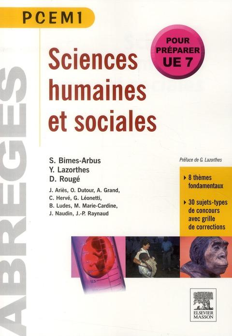 Sciences Humaines Et Sociales (Edition 2011)