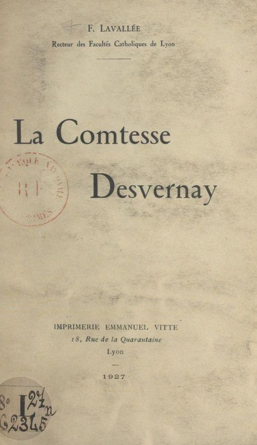 La comtesse Desvernay  - Fleury Lavallée