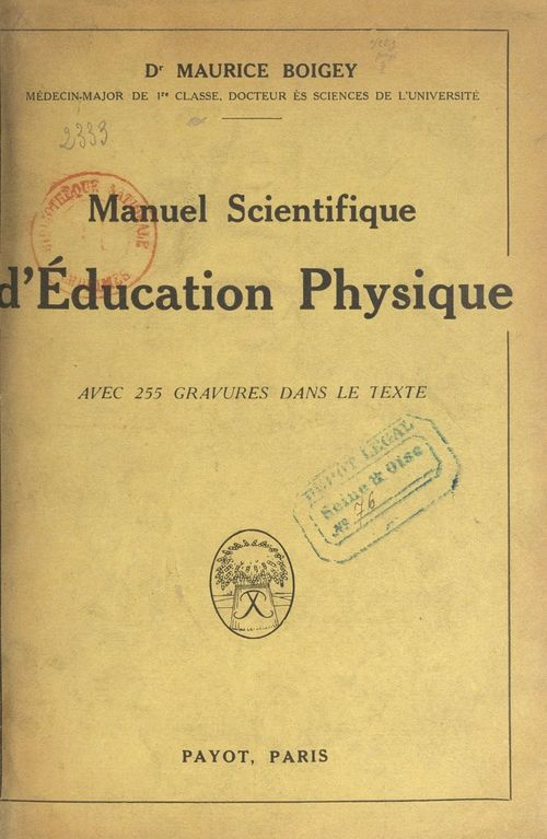 Manuel scientifique d'éducation physique