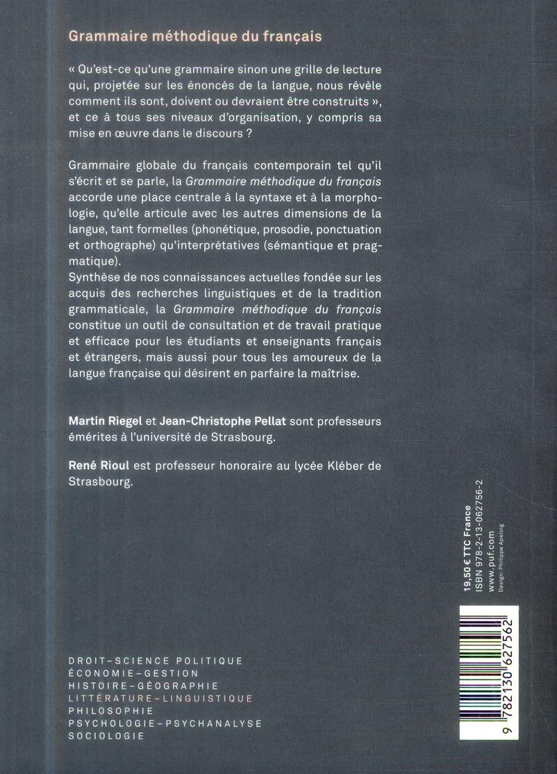 Grammaire méthodique du francais (5e édition)