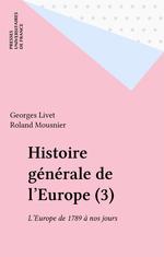 Hist generale de l'europe - tome 3