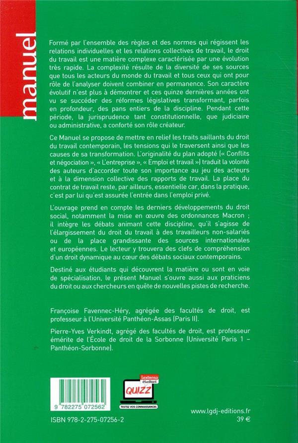 Droit du travail (7e édition)