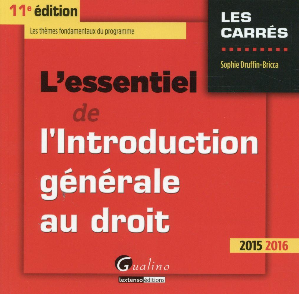 l'essentiel de l'introduction générale au droit 2015-2016