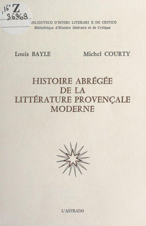 Histoire abrégée de la littérature provençale moderne