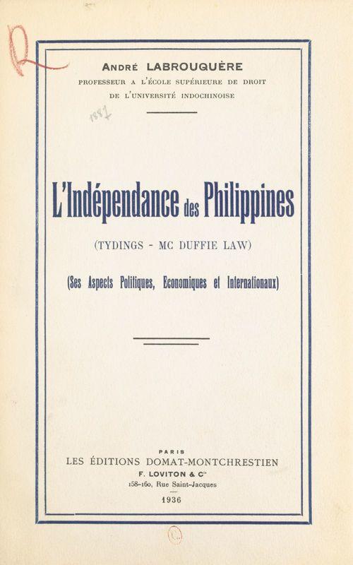 L'indépendance des Philippines