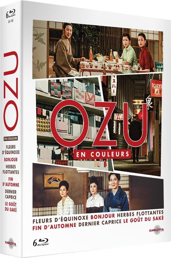 Ozu en couleurs : Fleurs d'équinoxe + Bonjour + Herbes flottantes + Fin d'automne + Dernier caprice + Le Goût du saké