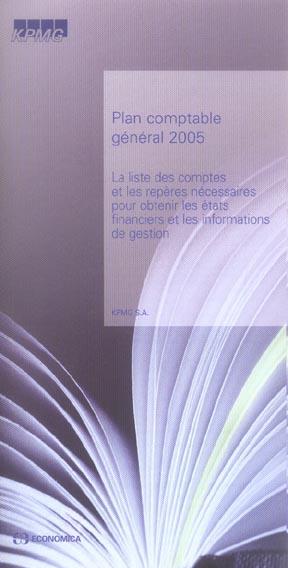 Plan comptable general 2005