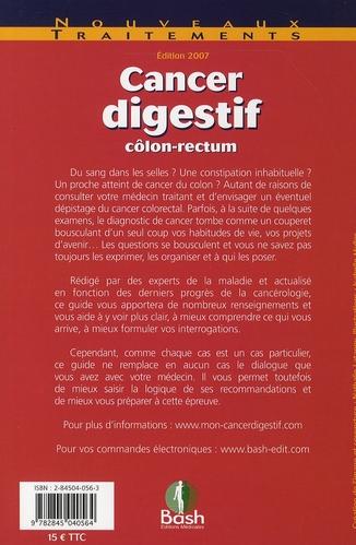 Cancer digestif ; guide à l'usage des patients et de leur entourage
