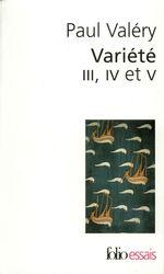Vente Livre Numérique : Variété III, IV et V  - Paul Valéry