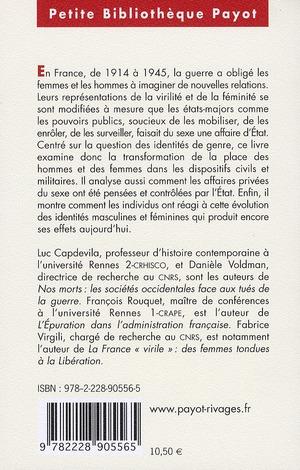 Sexes, genre et guerres ; France 1914-1945