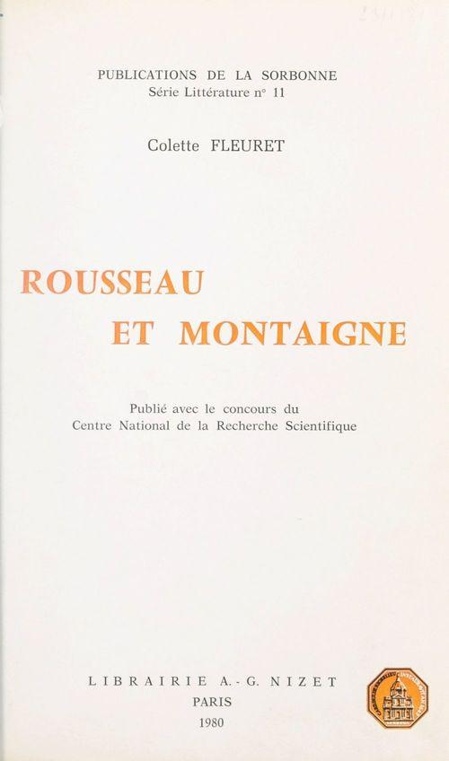 Rousseau et Montaigne
