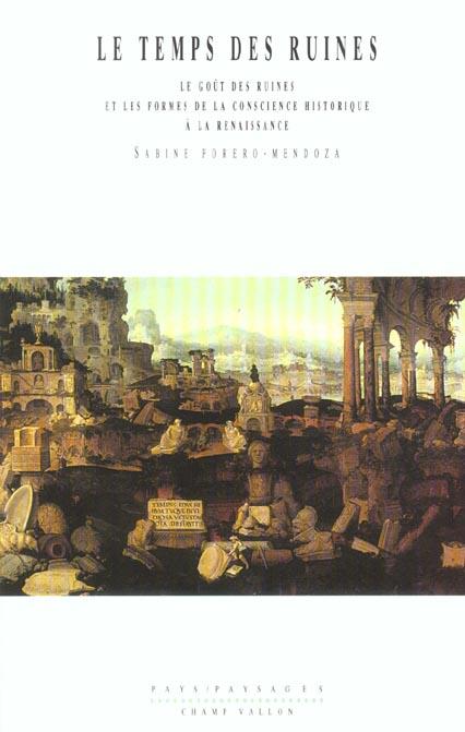 Le temps des ruines ; le gout des ruines et les formes de la conscience historique à la Renaissance