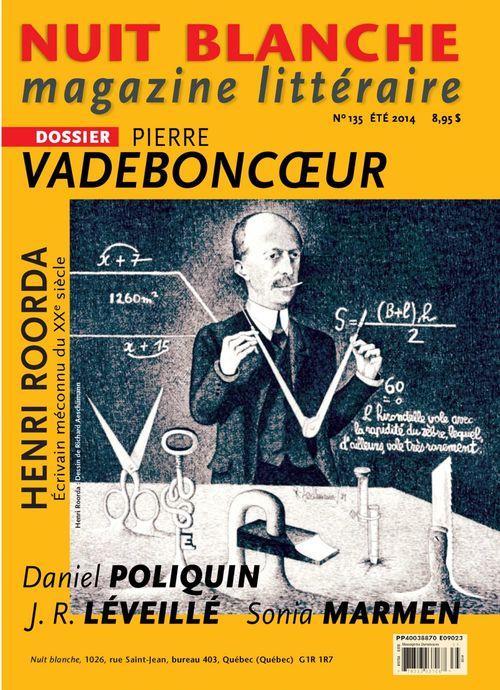 Nuit blanche, magazine littéraire. No. 135, Été 2014