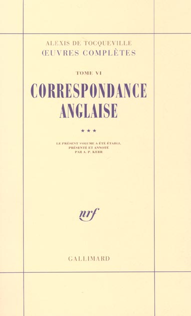 Oeuvres completes t.6 ; correspondances anglaises t.3