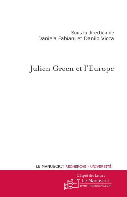 Julien Green et l'Europe