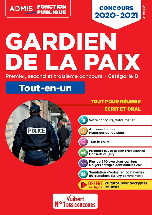 Gardien de la paix ; concours (édition 2020/2021)