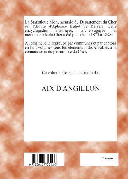 Statistique monumentale du département du Cher ; canton des Aix-d'Angillon
