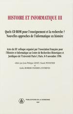 Vente EBooks : Histoire et informatique III  - Jean-Philippe Genet - Claude Pennetier - Giulio Romero Passerin d´Entreves