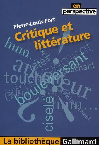 Critique et littérature