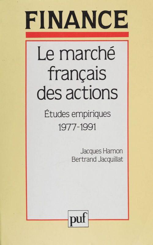 Marché français actions