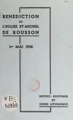 Bénédiction de l'église St-Michel de Rousson, 1er mai 1958