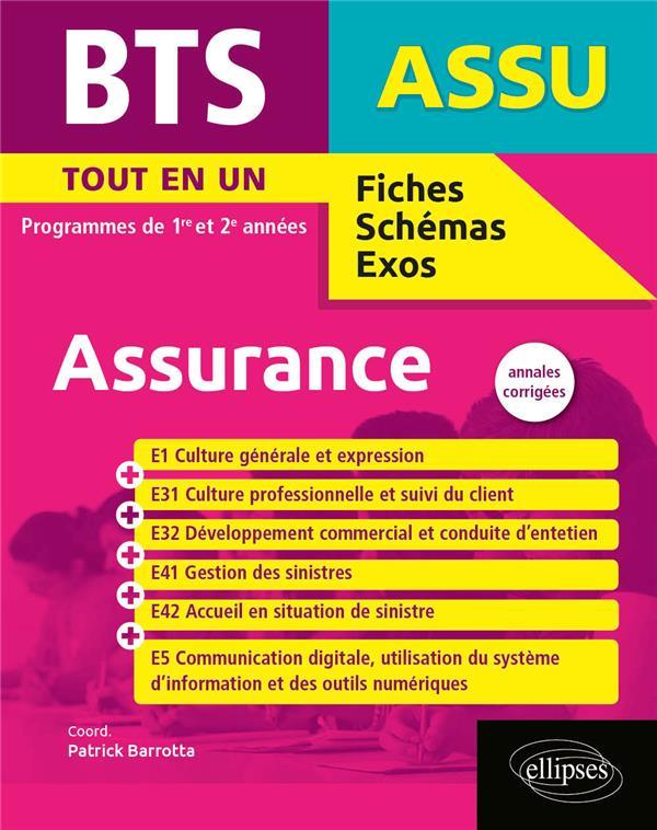 BTS assurance ; 1re et 2e année ; annales corrigées