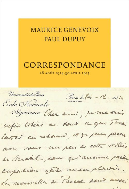Vente EBooks : Correspondance  - Maurice Genevoix  - Paul Dupuy