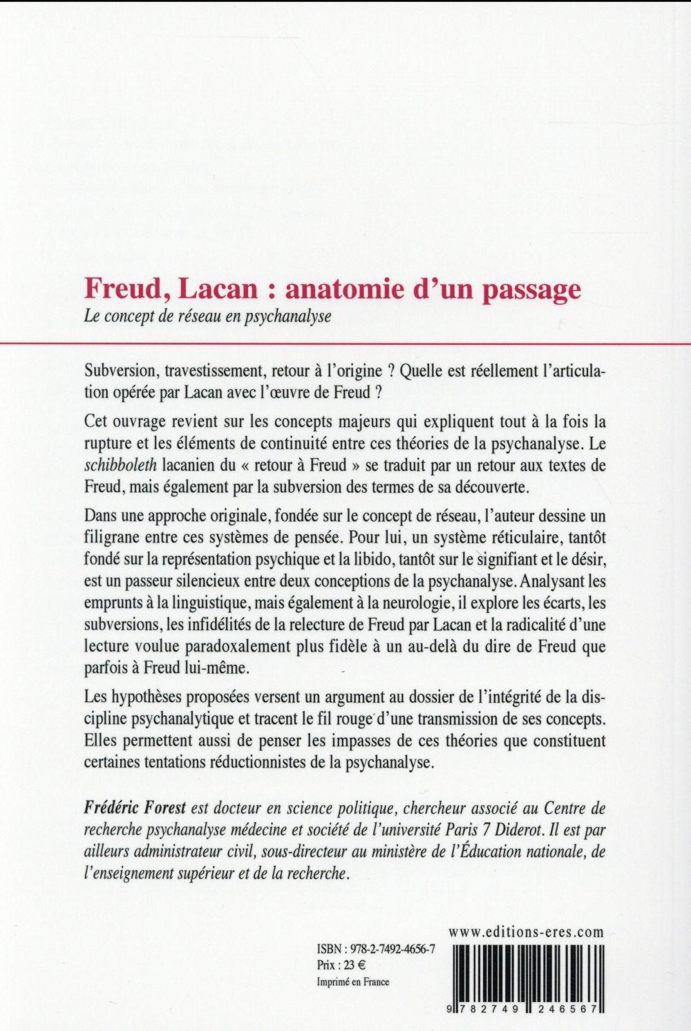 Freud, Lacan ; anatomie d'un passage : la notion de réseau en psychanalyse