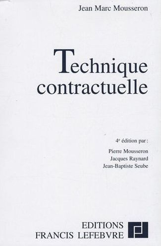 Technique Contractuelle (4e Edition)